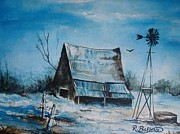A Blue Winter In Texas Print by Robert Ballance