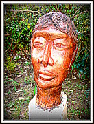 Stones. Sculpture Prints - A Boald Man Print by Anand Swaroop Manchiraju