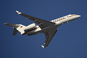 Commercial Airplane Framed Prints - A Bombardier Global 5000 Vip Jet Framed Print by Timm Ziegenthaler