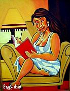 Adel Jarbou Art - A Book Reader by Adel Jarbou