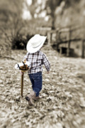 Cowboy Hat Photos - A Boy and his Horse by Scott Pellegrin