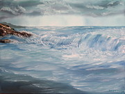 Storm Clouds Paintings - A Break in Storm by Christie Minalga