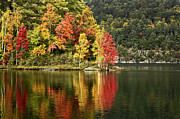 Adirondack Lake Prints - A Breath Of Autumn Print by Evelina Kremsdorf