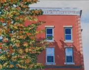 Foliage Paintings - A Brick in Time by Lynne Reichhart