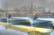 Fox River Prints - A bridge on the Fox Print by David Bearden