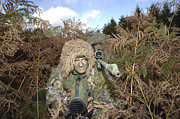 Blending Photo Prints - A British Army Sniper Team Dressed Print by Andrew Chittock