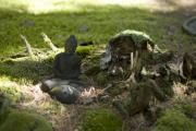 Forest Floor Prints - A Buddha in the Forest Print by Rockstar Artworks