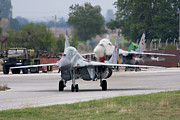 Taxiing Framed Prints - A Bulgarian Air Force Mig-21 Taxiing Framed Print by Anton Balakchiev