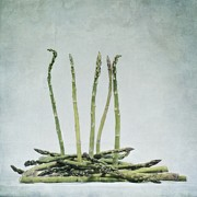 Layered Photo Framed Prints - A Bunch Of Asparagus Framed Print by Priska Wettstein