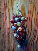 Bunch Of Grapes Painting Framed Prints - A Bunch Of  Framed Print by Tomas OMaoldomhnaigh