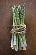 Kitchen Counter Framed Prints - A Bundle Of Asparagus Framed Print by Halfdark