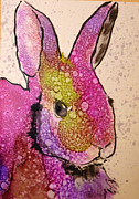 Alcohol Ink Prints - A Bunny Raggitt Print by P Maure Bausch