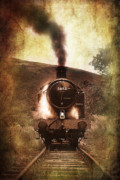 Locomotive Metal Prints - A Bygone Era Metal Print by Meirion Matthias