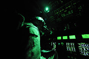 Control Panels Framed Prints - A C-130j Aircraft Commander Prepares Framed Print by Stocktrek Images
