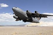A C-17 Globemaster Departs Print by Stocktrek Images