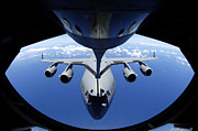 Mechanism Prints - A C-17 Globemaster Iii Receives Fuel Print by Stocktrek Images