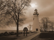 Sail Fish Prints - A Calm  Silence Lighthouse Print by Jackie Bodnar