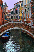 Venice Photo Framed Prints - A Canal in Venice Framed Print by Tom Prendergast