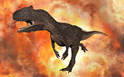 Talon Digital Art Posters - A Carnivorous Allosaurus From The Late Poster by Mark Stevenson