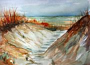 Julia Lueders Paintings - A Carolina Beach Walk through by Julie Lueders