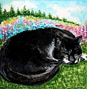 Elizabeth Robinette Tyndall - A Cat Nap in the Meadow