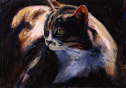 Feline Paintings - A Cats Life by Billie Colson