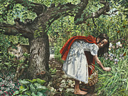 Red Riding Hood Paintings - A Cautionary Tale by Fremont Thompson