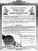 Discrimination Prints - A Certificate Of Membership Print by Everett