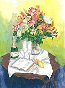 Champagne Paintings - A Champagne Moment by Dan Bozich