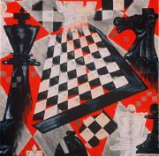 Chess Queen Painting Posters - A Chess Piece Poster by Shellton Tremble