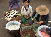 Burma Posters - A child in the market of Aungban - Myanmar Poster by RicardMN Photography