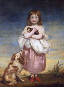 Full-length Portrait Painting Prints - A Child Print by James Northcore