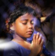 A Child's Prayer Print by Bob Salo