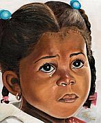 Child Portrait Prints - A Childs Tears Print by Toni  Thorne