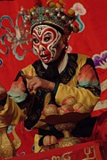 Bathing And Grooming Framed Prints - A Chinese Opera Performer In Monkey Framed Print by Richard Nowitz