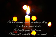Holiday Greetings Posters - A Christmas Candle Greeting Poster by Nishanth Gopinathan