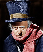 1950s Movies Metal Prints - A Christmas Carol, Alastair Sim, 1951 Metal Print by Everett
