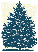 Traditional Culture Digital Art - A Christmas Pine Tree by Coco Flamingo