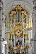 Music Instruments Posters - A church filled with music - Church of Our Lady Dresden Poster by Christine Till