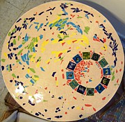 Table Ceramics - A Circle In Motion by Ofra Moran