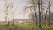 A Clearing In An Autumnal Wood Print by Max Kuchel