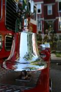 Fighters Prints - A Close View Of A Firetrucks Firebell Print by Stephen St. John