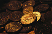 Money Prints - A Close View Of American  Coins Print by Joel Sartore