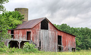 Wooden Barns Prints - A Cloudy Day Print by JC Findley