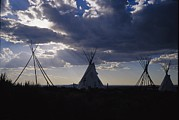 Taos Prints - A Cluster Of Teepees And Frames Print by Raul Touzon