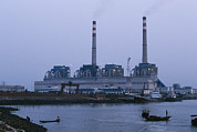 Junks Etc. Photos - A Coal Burning Power Plant That Uses by Justin Guariglia