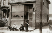 Beer Photos - A Coal Miners Bar  George Ave Parsons Pennsylvania early 1900s by Arthur Miller