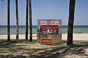 Building Feature Metal Prints - A Coffee Bar And Drinks Kiosk Metal Print by Jaak Nilson