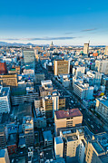 Japan Town Photos - A cold day in Sendai Japan by Ulrich Schade