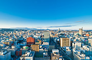 Japan Town Photos - A cold sunny day in Sendai Japan by Ulrich Schade